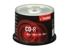 CD-R IMATION 700MB 80MIN SPINDLE PACK50