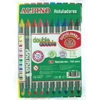ALPINO ESTUCHE 10 ROTULADORES 2 PUNTAS COLORES SURTIDOS REF. AR000013