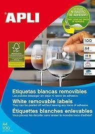 BOLSA ETIQUETAS APLI 02928 CD/DVD GLOSSY