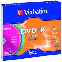 DVD-R 16x Advanced AZO 4,7GB slim case 5 uds