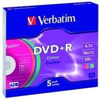 DVD+R 16x Advanced AZO 4,7GB SL 5 uds colores