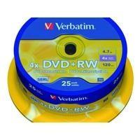 VET BOBIN 25 DVD+RW 4X 4.7GB43489 C.INC