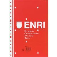 ENRI RECAMBIO 100 HOJAS 60 G. FORMATO FOLIO CUADRICULA 4X4 CON MARGEN REF. 121866
