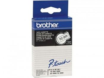 BROTHER CINTA TC LAMINADA 9 MM X 7,7 M NEGRO/BLANCO REF TC-291