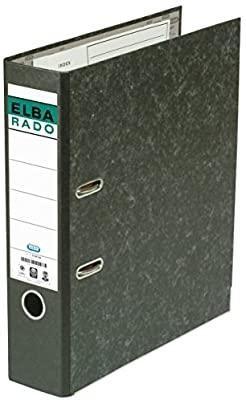 ELBA ARCHIV PALANCA ELBA-RADO NEGRO  A4 LOMO 75 MM CON RANURA CANTONERA METALICA REF 10407