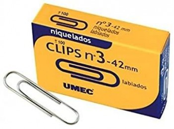 C.100 CLIP LABIADOS NIQUELADOS N3 42MM