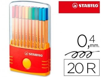 ESTOIG 20 RETOLADORS STABILO POINT 88 PARADE 8820/03