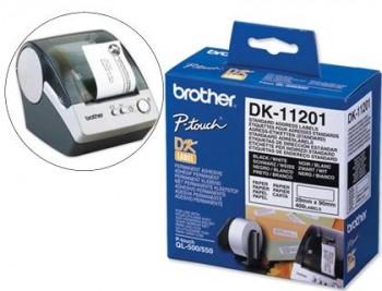 BROTHER ETIQUETAS  DIRECCIÓN ESTANDAR MEDIDAS 29 X 90 MM COLOR NEGRO/BLANCO REFERENCIA.DK11201