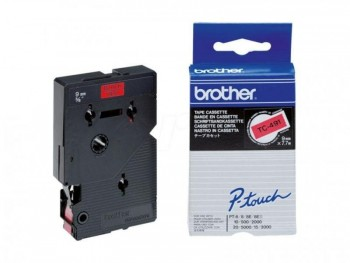 BROTHER CINTA TC LAMINADA 9 MM X 7,7 M NE/RO TC-491
