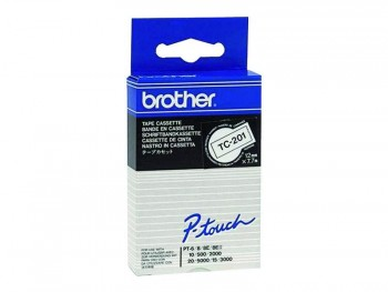 BROTHER CINTA TC LAMINADA 9 MM X 7,7 M BLA/NEGRO  TC-395