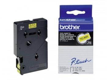 BROTHER CINTA TC LAMINADA 12 MM X 7,7 M NEGRO/AMARILLO TC-601