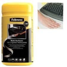 TOALLITAS FELLOWES LIMPIEZA SUPERFICIES BOTE 100U.