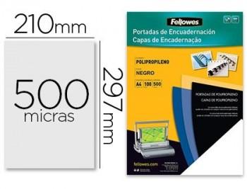 PORTADA PLASTICO PP NEGRA  A4 450M. FELLOWES